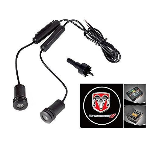 (Lupar 5w 4th Generation 2x LED Car Door Laser Projector Ghost Shadow Step Light Logo (Fits:DODGE))