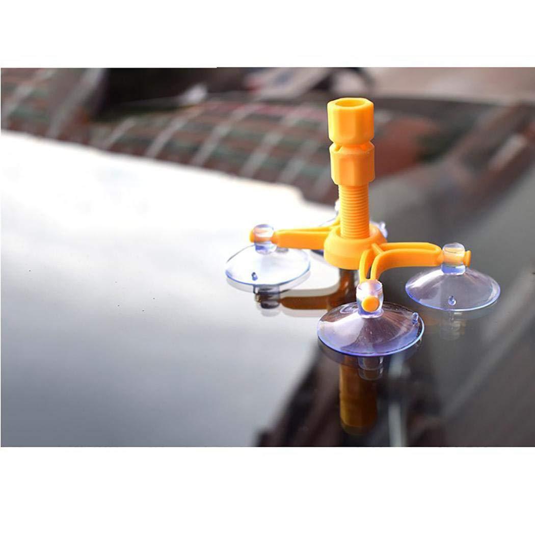 fatcatn Auto Windschutzscheibe Reparatursatz DIY Chip Auto Windschutzscheibe Reparatursatz Windschutzscheibe Risse und Streifen Reparatur mit Saugnapf