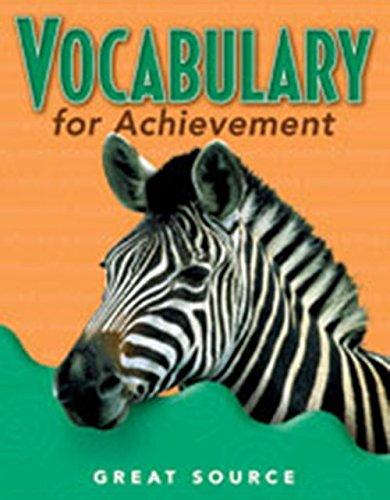 Vocabulary for Achievement: Teacher's Edition Grade 5 2000