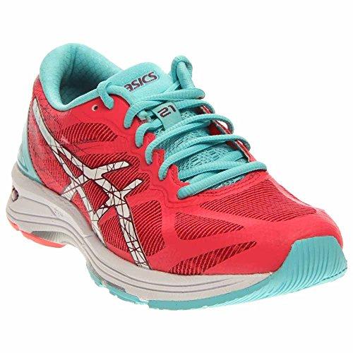 ASICS Women's Gel-DS Trainer 21 Running Shoe, Diva Pink/White/Turquoise, 10 M US