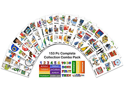 SchKIDules 153 Pc Complete Collection Combo Pk for Visual Schedules, Kids Calendars and Behavior Charts: 132 Home, School and Special Needs Themed Activity Magnets Plus 21 Headings Magnets (2nd Ed) (Activities To Support Speech And Language Development)