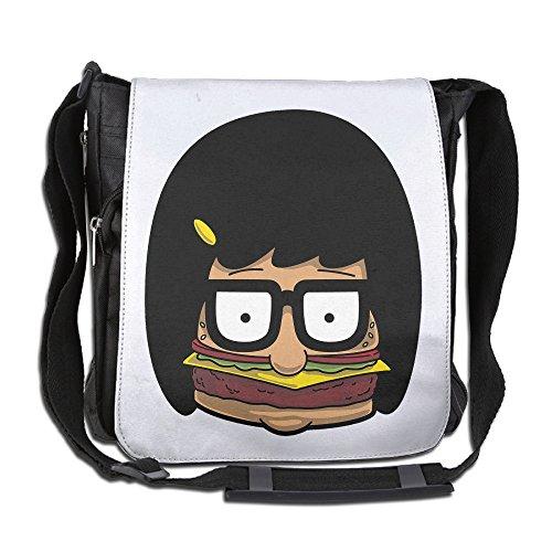 BakeOnion Bob's Burgers Tina Belcher Messenger Bag Traveling Briefcase Shoulder Bag For Adult Travel And Business Trip