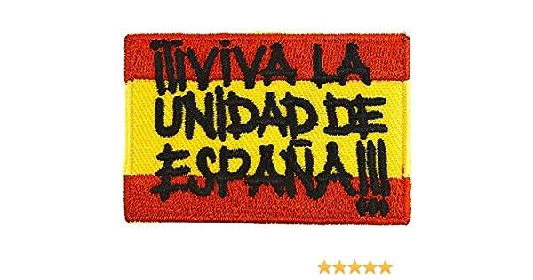 Gemelolandia Parche Bordado Termoadhesivo Viva la Unidad de España ...