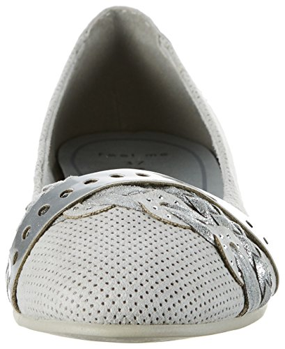 Marco Tozzi 22100 - Bailarinas Mujer Gris (Lt.grey Comb 248)