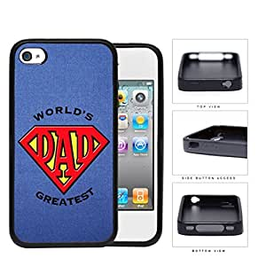 Greatest Dad Superman Logo Rubber Silicone TPU Cell Phone Case Apple iPhone 4 4s