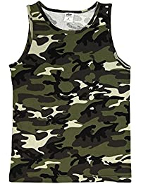 Mens Camo Muscle Tank Top Gym Work Out Super Thick 3 Pack