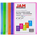 JAM Paper Plastic Envelopes with Button & String