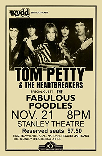 Innerwallz Tom Petty and The Heartbreakers Live 1979 Retro Art Print - Poster Size - Print of Retro Concert Poster - Features Tom, Mike, Benmont, Ron, Scott and - Concert Retro Poster