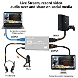 ZasLuke 4K HDMI Game Capture Card,USB 3.0 HD Game