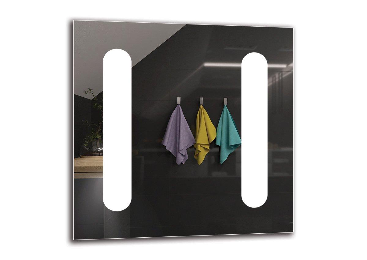 Miroir de Salle de Bain Miroir avec /éclairage ARTTOR M1CP-11-40x40 Pr/êt /à laccrochage Miroir LED Premium Miroir Mural Taille du Miroir 40x40 cm Miroir Lumineux Blanche Chaude 3000K