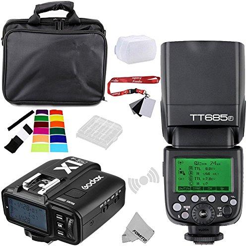 Fomito Godox TT685F TTL 2.4GHz Wireless Master/External AutoFlash Speedlite &X1T-F Transmitter Trigger HSS for Fuji Fujifilm Cameras