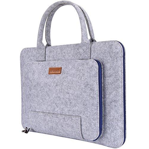 Ropch 13 13,3 Zoll Filz Laptoptasche mit Griff, Ttragbare Laptoptasche / Notebooktasche Hülle Sleeve Case für 13,3