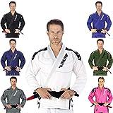 Elite Sports New Item IBJJF Ultra Light BJJ Brazilian Jiu Jitsu Gi w/Preshrunk Fabric & Free Belt (White, A2)