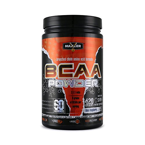 MAXLER BCAA Powder, Blue Raspberry, 60 Servings