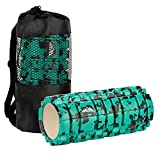 SupreGear Foam Roller, Muscle Massage Soothing Therapeutic Foam Roller with Grid for Soreness and Myofascial Release (Green)