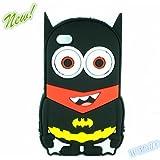 W Mall 3D cute Superhero Cartoon Silicon Soft Cover Case for iPhone 4 4S 4G (Batman)