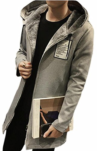 Arsenal Hooded Fleece - Alion Mens Oversized Custom Fit Outdoor Fleece Hoodies Jacket Trenchcoat Grey S