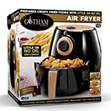 Gotham Steel Air Fryer XL 3.8 Liter with Rapid Air Technology for Oil Free Healthy Cooking Adjustable Temperature Control with Auto Shutoff–Dishwasher Safe with Nonstick Copper Coating–As Seen on TV For Sale