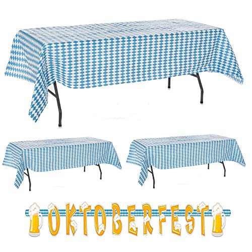 Oktoberfest Decorations Cheap (3 pc Oktoberfest Table Cover & Oktoberfest Letter Banner Value Party)