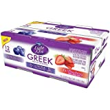 Light and Fit Greek Blueberry and Strawberry Nonfat Yogurt, 5.3 Ounce - 12 per pack - 1 each.