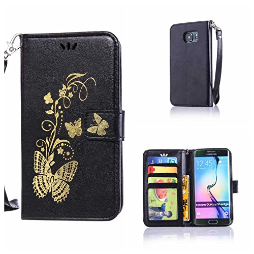 CUSKING Galaxy S6 Edge Case, Leather Wallet Case for for sale  Delivered anywhere in Canada
