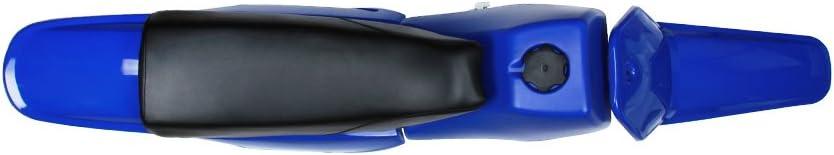 USTPO Plastic Fairing Gas Tank Kit Rear Fender For Yamaha PW80 PW 80 All Years Blue