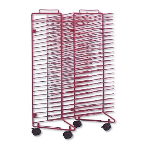 Spaces 21 Equipment Rack - Sax Stack-a-Rack Drying Rack, Red, Powder Coated, 30 x 21 x 17 Inches