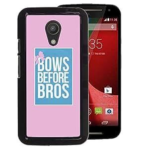 Supergiant (Bows Before Bros Pink Blue Poster Pink) Impreso colorido protector duro espalda Funda piel de Shell para Motorola G 2ND GEN II