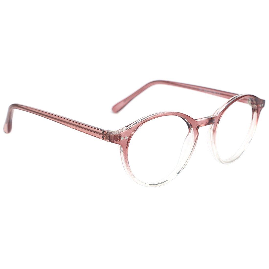 25a976bbda3 TIJN Vintage Women Thick Round Rim Non-prescription Glasses Eyeglasses  Clear Lens 00076101