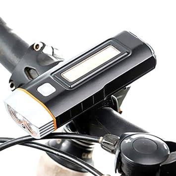 Buput Luz Delantera de Bicicleta Sensor Batería Pantalla Luz ...