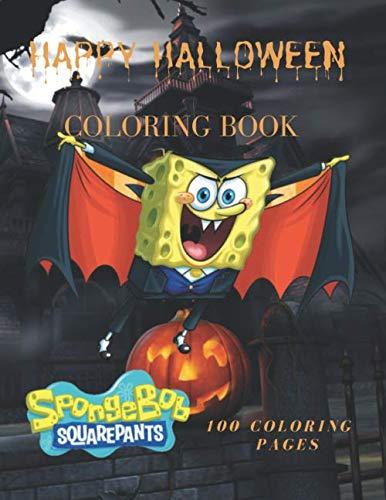 SpongeBob SquarePants Happy Halloween  Coloring Book 100 Coloring Pages: SpongeBob SquarePants Happy Halloween Coloring Book, For Kids, Crafts for ... Coloring Pictures, Unlined,  8,5