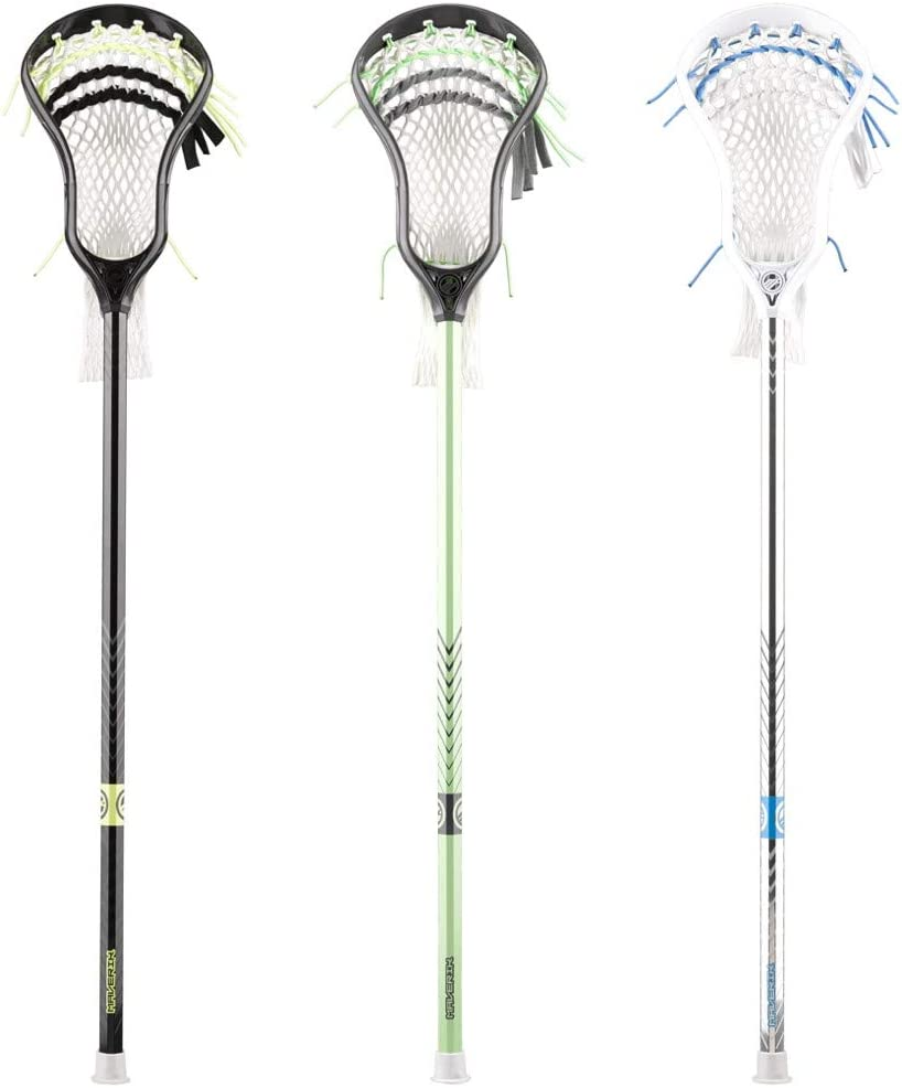 Maverik Charger Complete Attack Lacrosse Stick with Ball Black