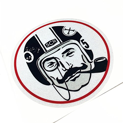 (Car Sticker Decals Vinyl Tape Reflective for Cafe Racer LONDON Gentleman 12cm)