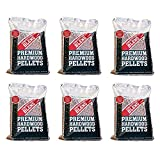 MRT SUPPLY Smoker Grill Competition Blend Hardwood Pellets, 20 lbs (6 Pack) with Ebook