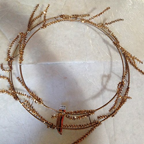 "16"" Gold glitter 3-D Wire Wreath frame with 28 5"" Gold glitter stem Twist Tie ons"