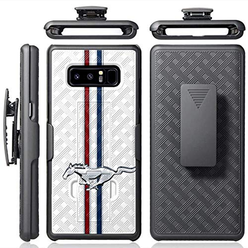 [Mobiflare] Samsung Galaxy Note 8 [Black] Elite Armor Case with Holster [Mustang Horse -