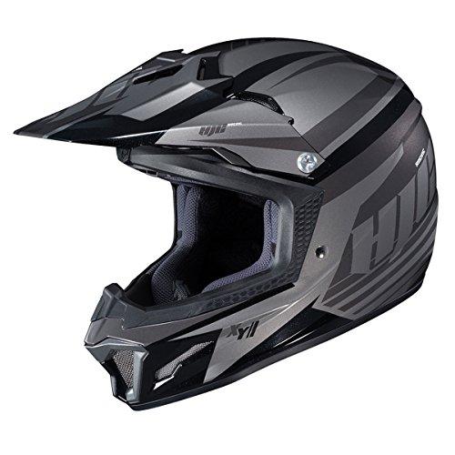 - HJC Youth CL-XY 2 Helmet - Bator (Large) (Black/Grey)