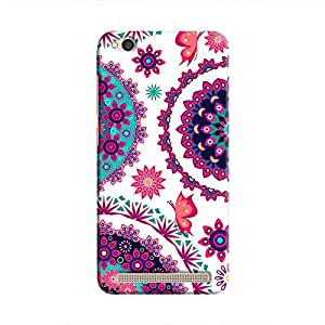 Cover It Up - Flower Design White Redmi 5A Hard Case