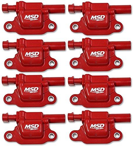 MSD 82668 Red Square Coils, 14 & Up Gm V8, 8 Pack