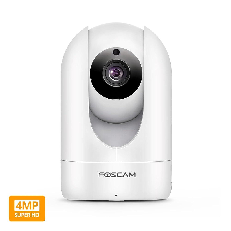 Indoor 1440p 4MP WiFi PTZ IP Camera (White) B01F4RJV3K