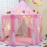 Loisleila Kids Fairy Princess Castle Tents Hexagon Girls Playhouse Indoor Fun Room