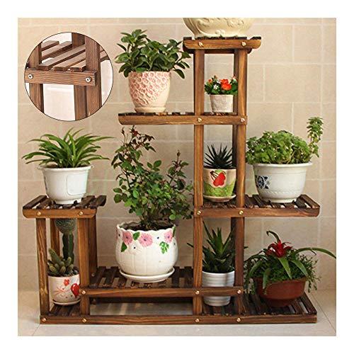 Garden Wooden Plant Stand Pot Planter Holder Rack 5 Tier Display Shelves Outdoor