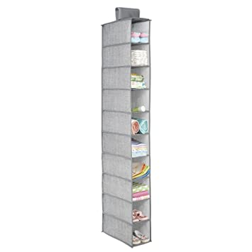 system organizer natural interdesign storage hanging taupe amazon shelf sweater dp com closet chevron