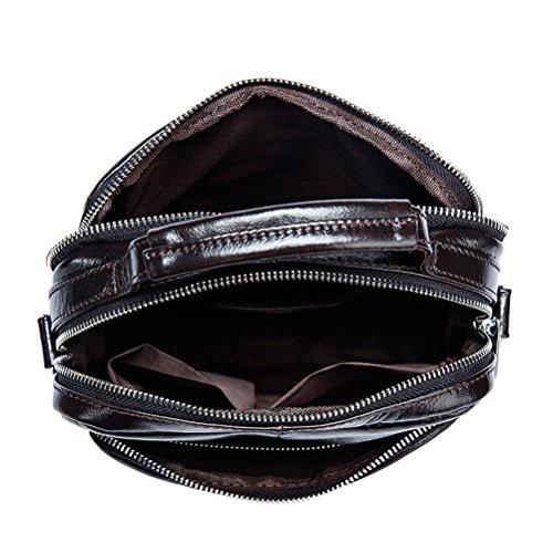 Cowhide Purse Crossbody Pouch Women Durable Phone Moible Soft Bag Multiple Mans Mens Leather Zhhlinyuan Para Day Shoulder Pocket Belt Messenger Zipper First qXOFRWwWT