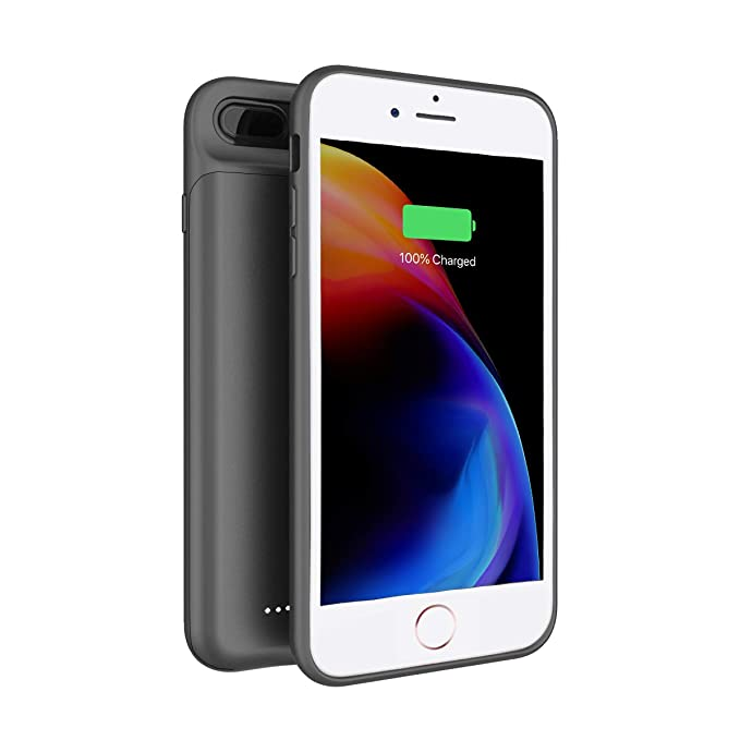 buy online 5a48f db4a4 Anjoron 4000mAh Charger Case for Apple iPhone 8 Plus iPhone 7 Plus, Backup  Battery Pack Charging Case for iPhone 6/6s Plus 5.5inches with Lightning ...