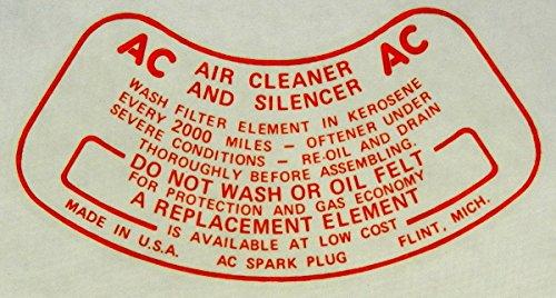 1948 1949 1950 1951 1952 1953 1954 PACKARD OIL BATH AIR CLEANER SERVICE DECAL ()