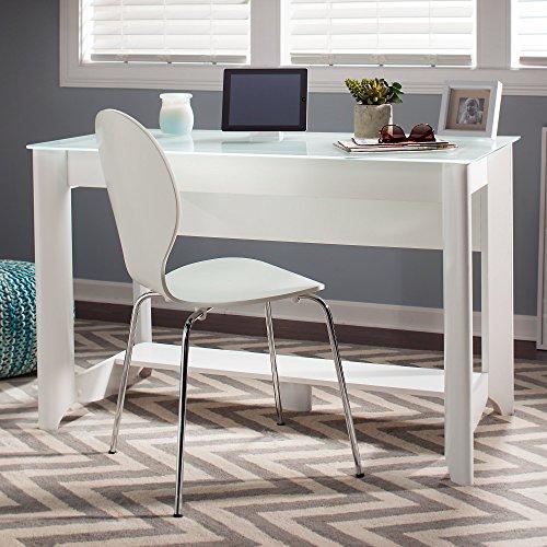 Aero Writing Desk in Pure White by Bush Furniture