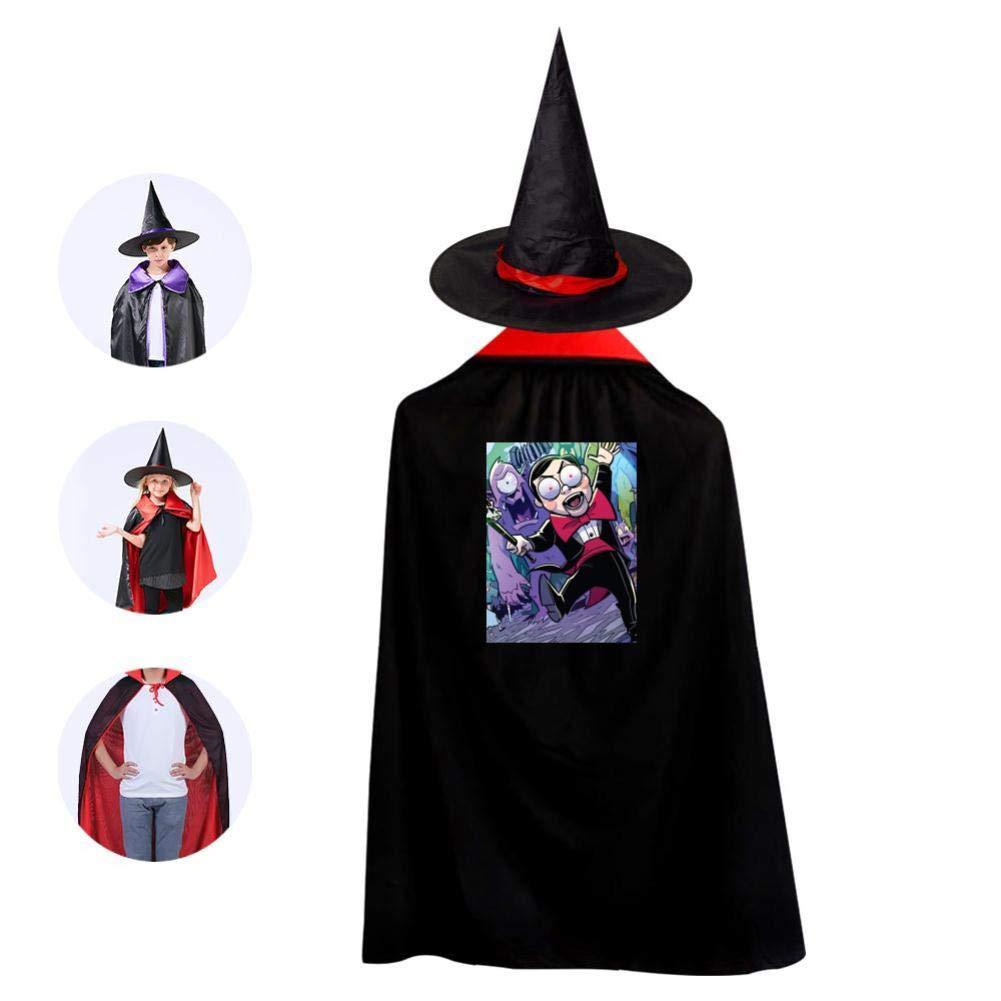 Amazon.com: Capa de disfraz de bruja con sombrero mágico ...