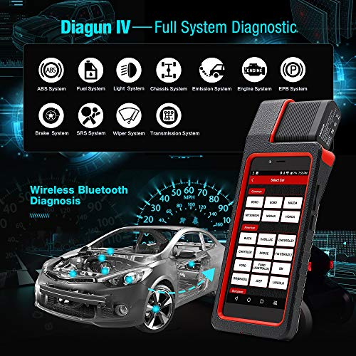 Launch X431 DIAGUN IV Bi-directional Automotive Diagnostic Tool OBD2 Scanner Code Reader with Wifi & Bluetooth Covering 108 Vehicle Makes, 2 Years Free Update by LAUNCH (Image #2)