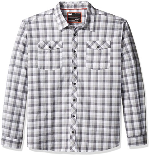 Helly Hansen Work Wear Men's Vancouver Plaid Work Shirt, Charcoal Check, X-Large (Check Wear Plaid)